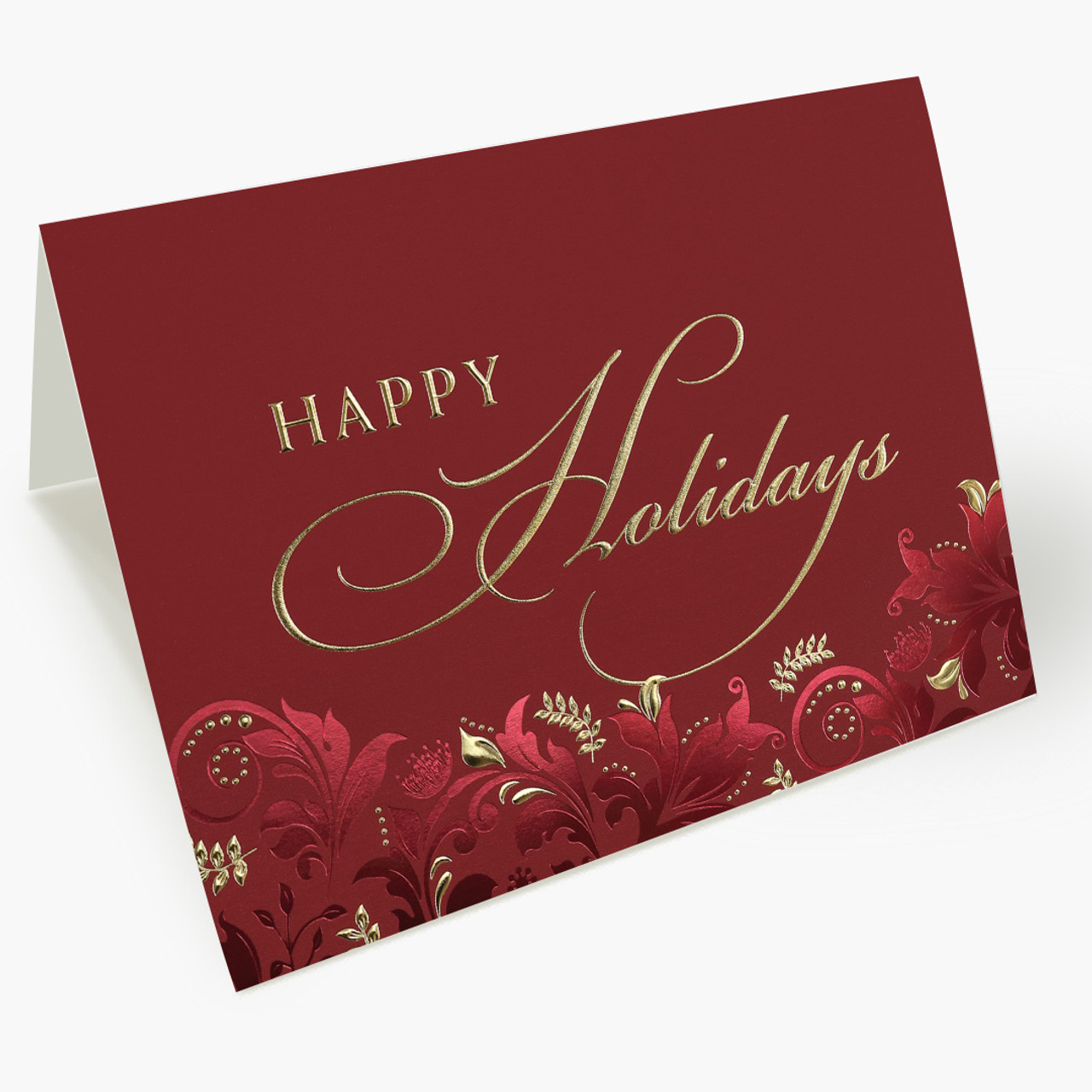 Damask Holiday Card