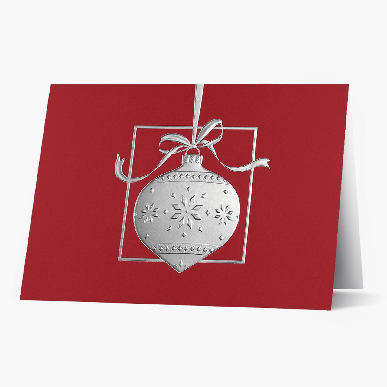 Elegant Silver Ornament Christmas Card