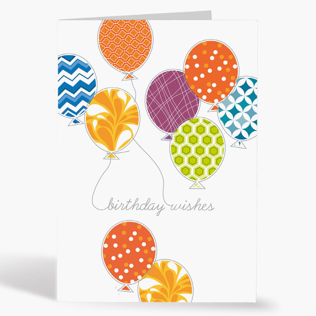 Balloon Wishes Birthday Card
