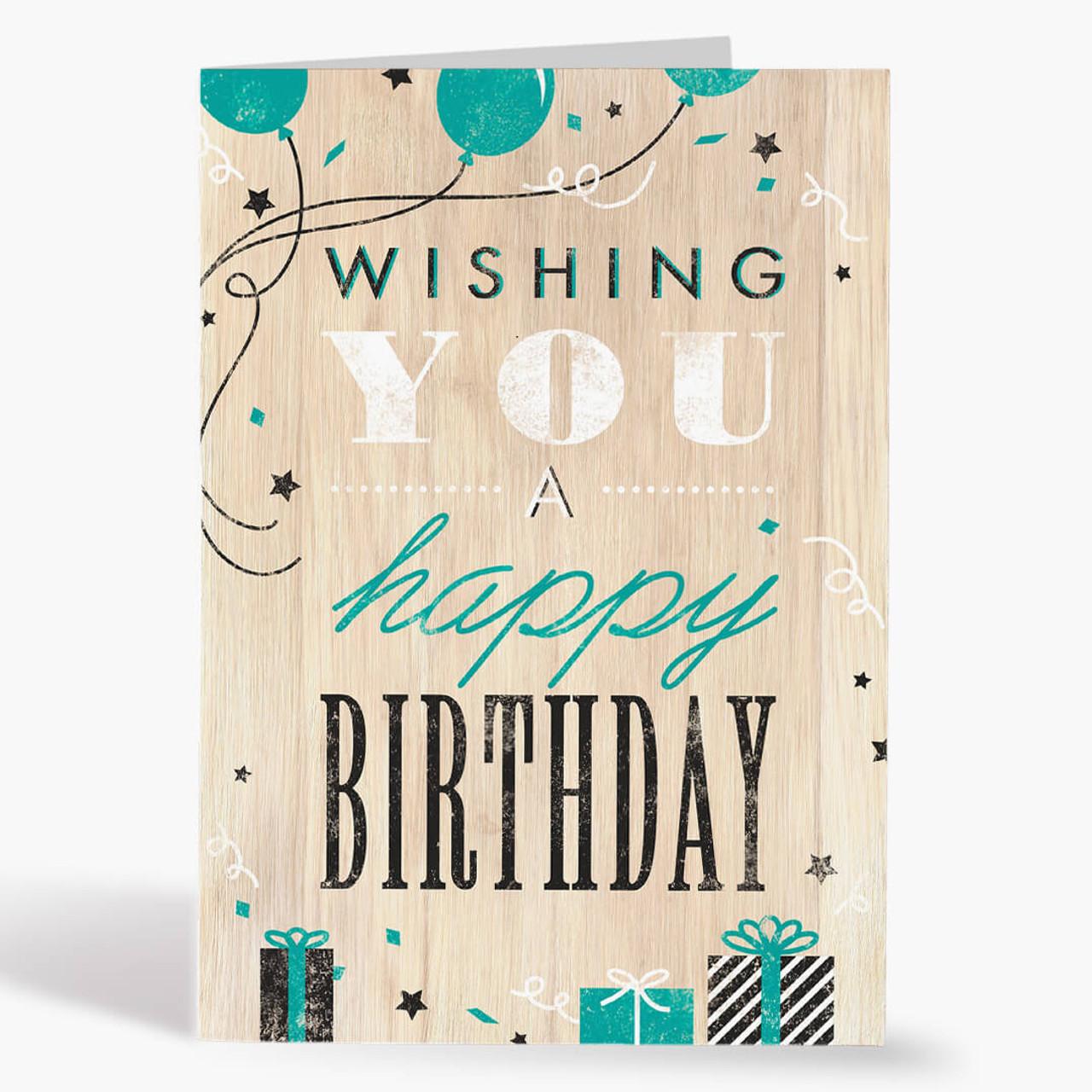 Woodsy Birthday Card