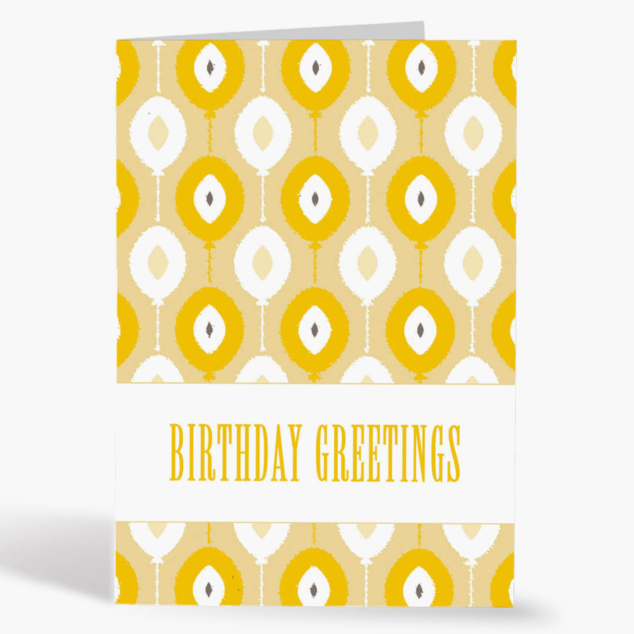 Ikat Balloons Birthday Card