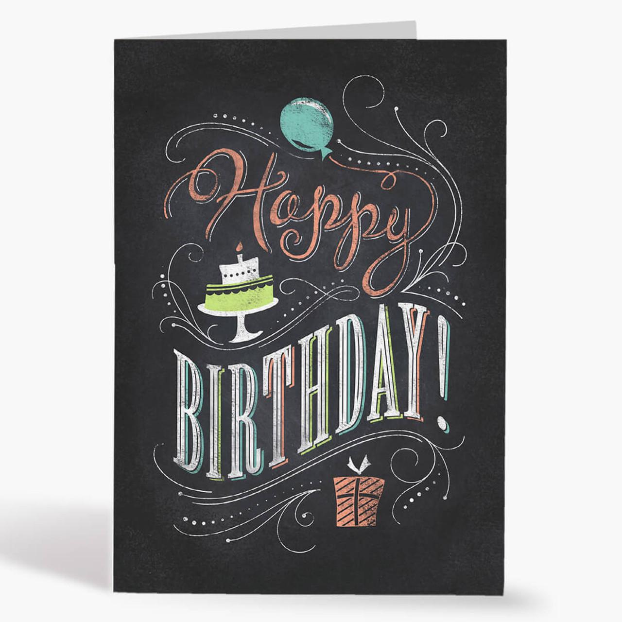 Chalkboard Wish Birthday Card