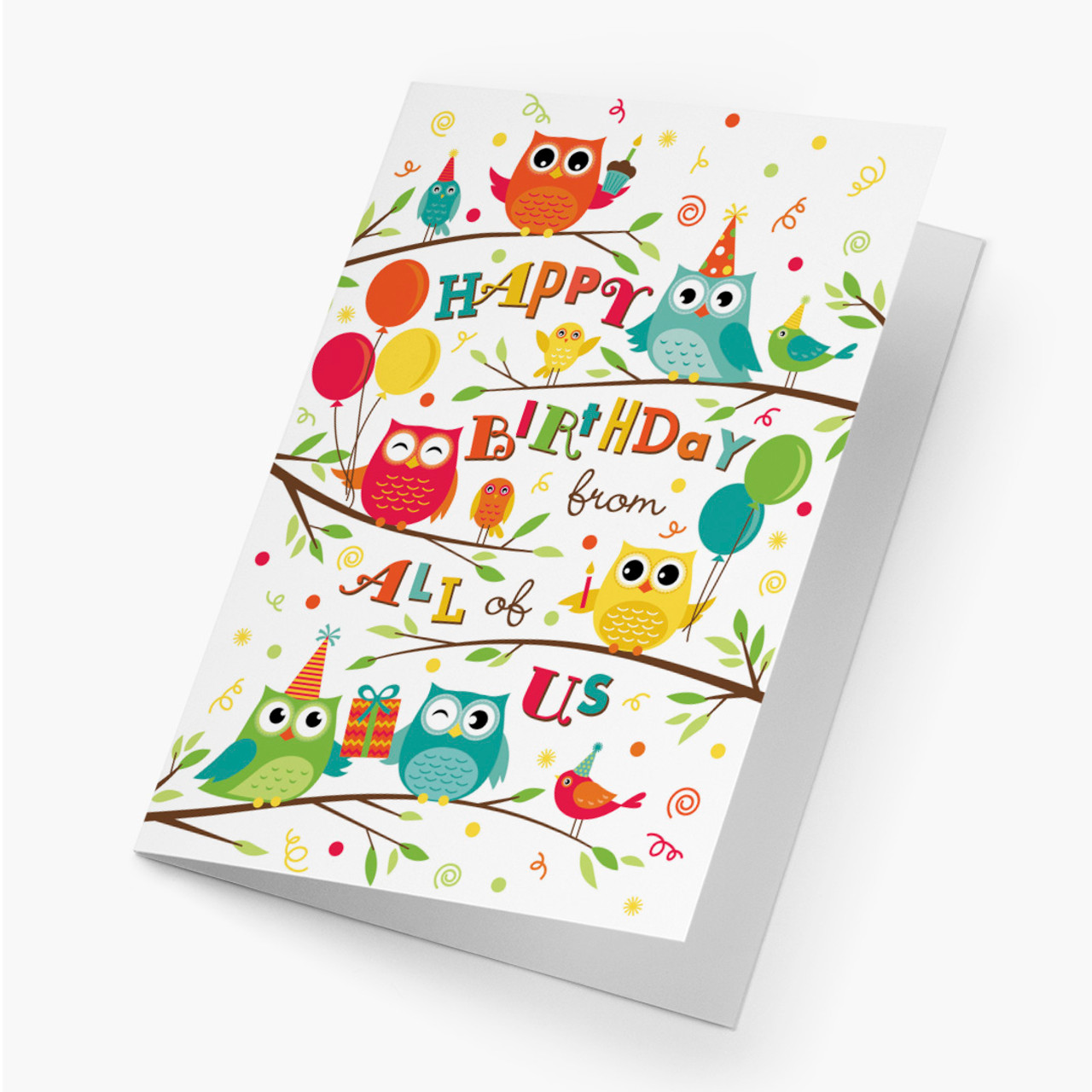 Owl-trageous Greeting Birthday Card