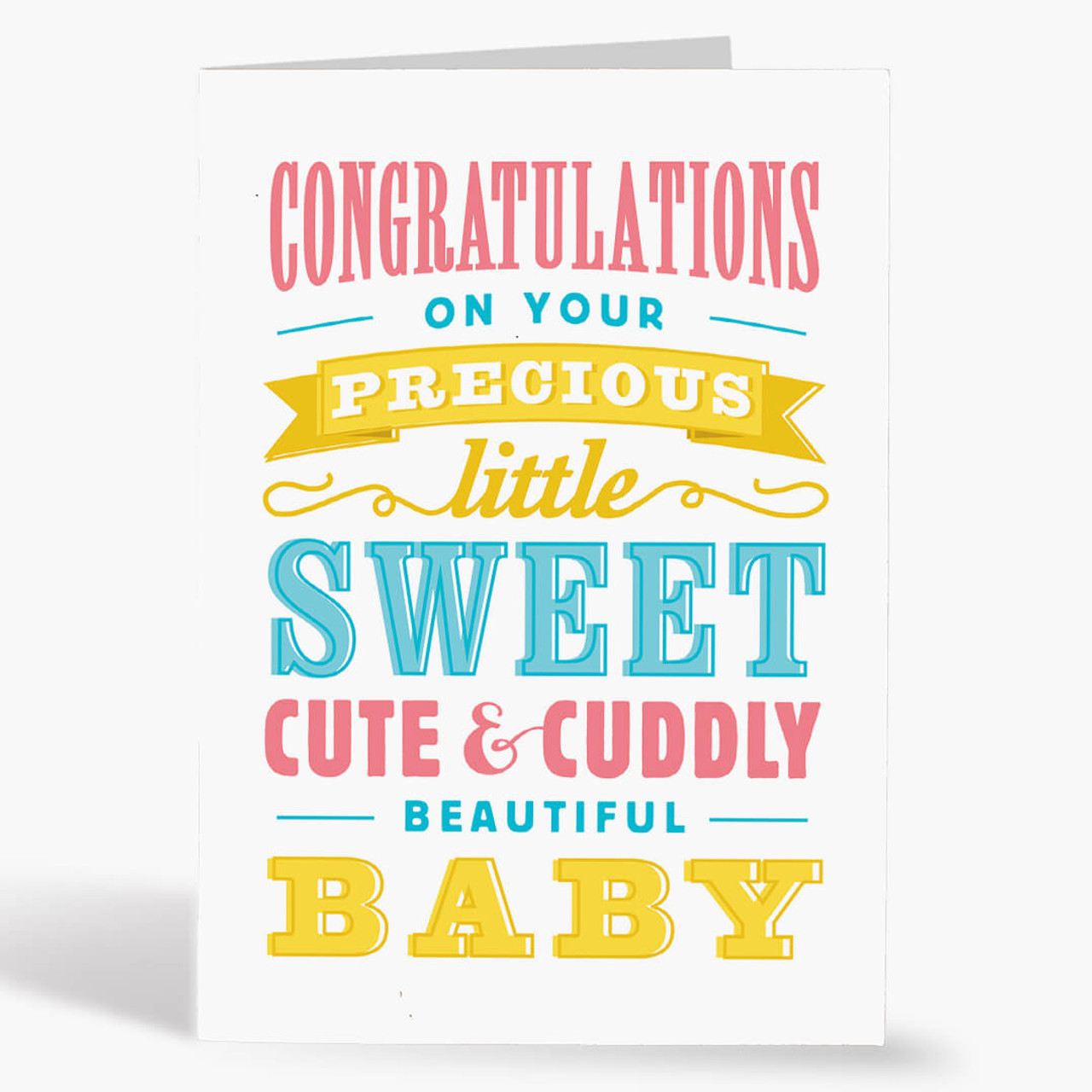 Baby Typography Birthday Card