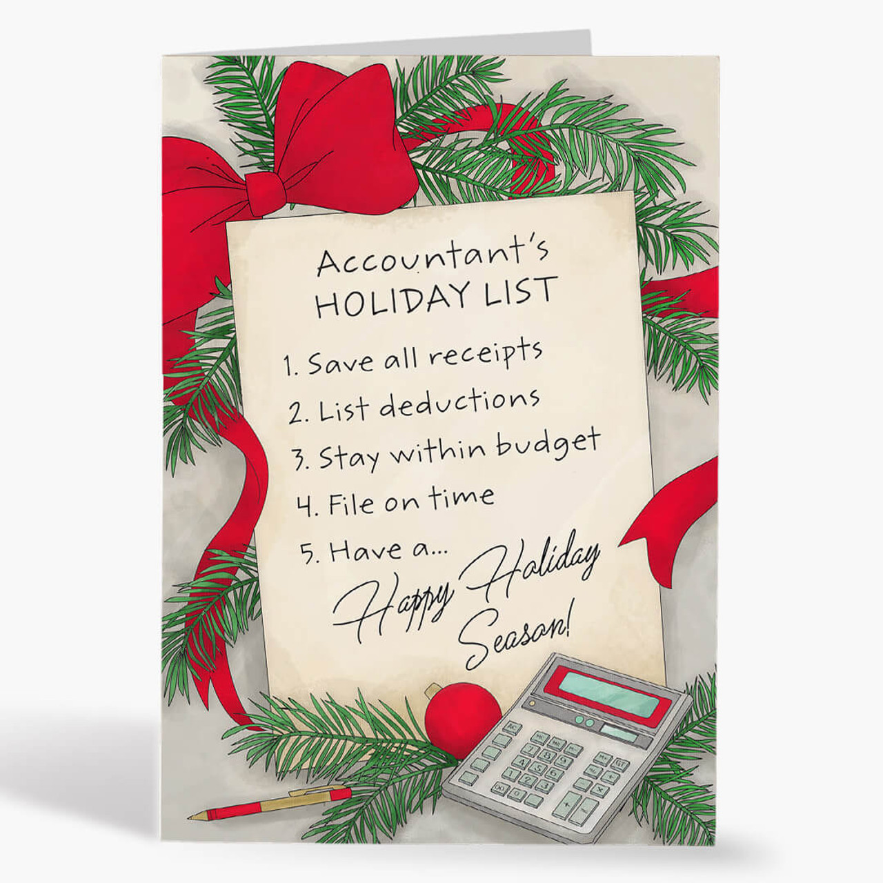Accountant's List Christmas Card