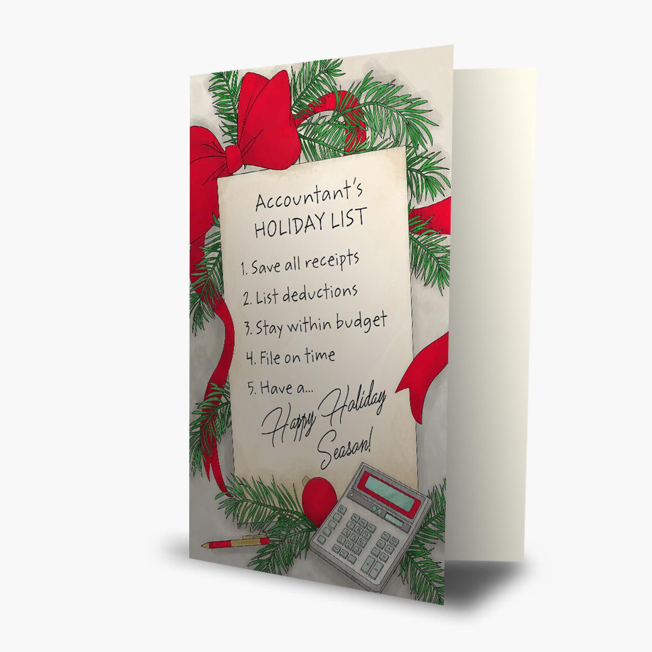 Accountant's List Christmas Card