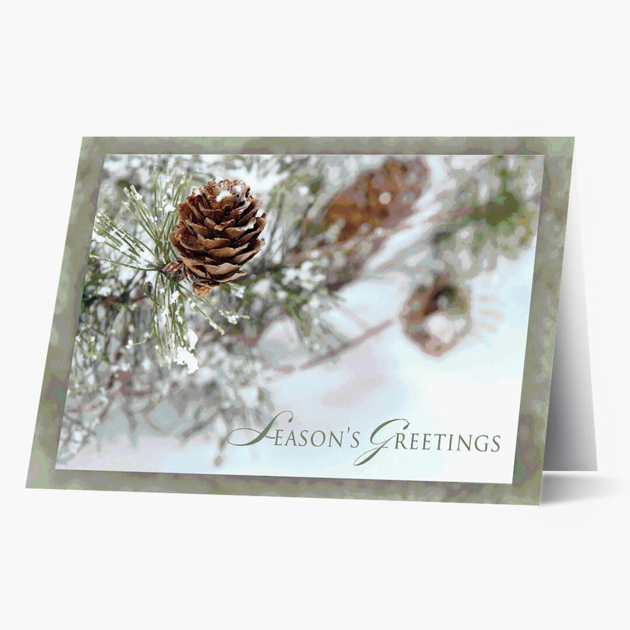 Frosty Pinecones