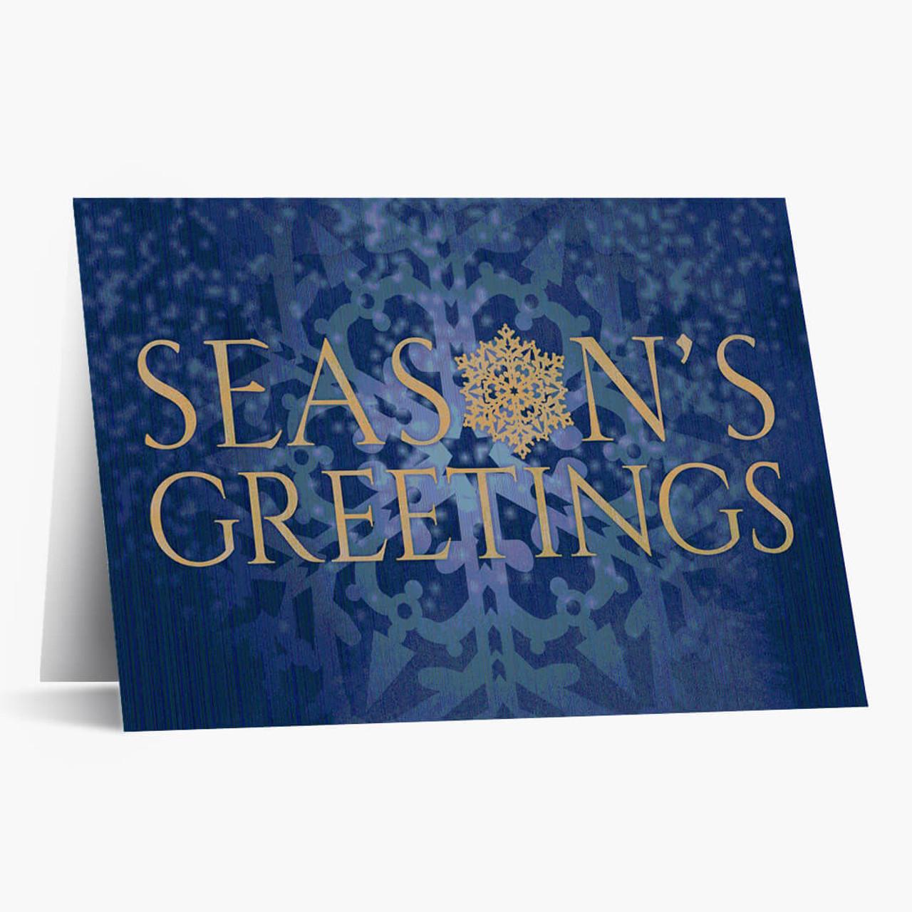 Season's Greetings Snowflake