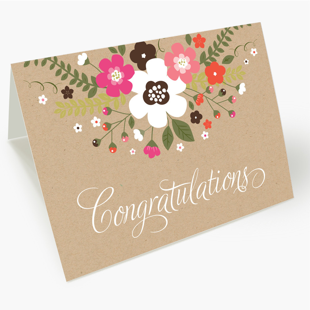 Rustic Floral Congrats