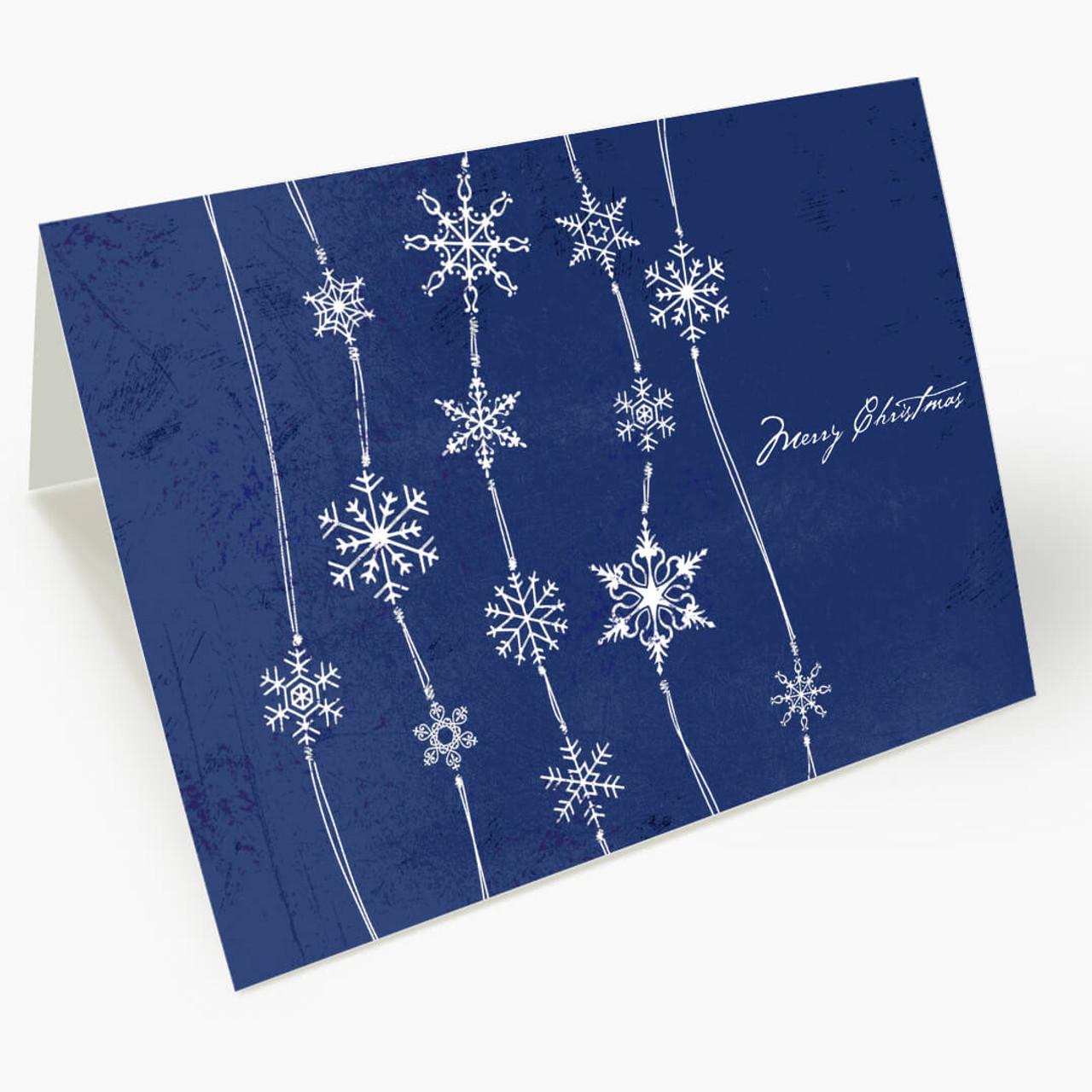 Midnight Blue Snowfall