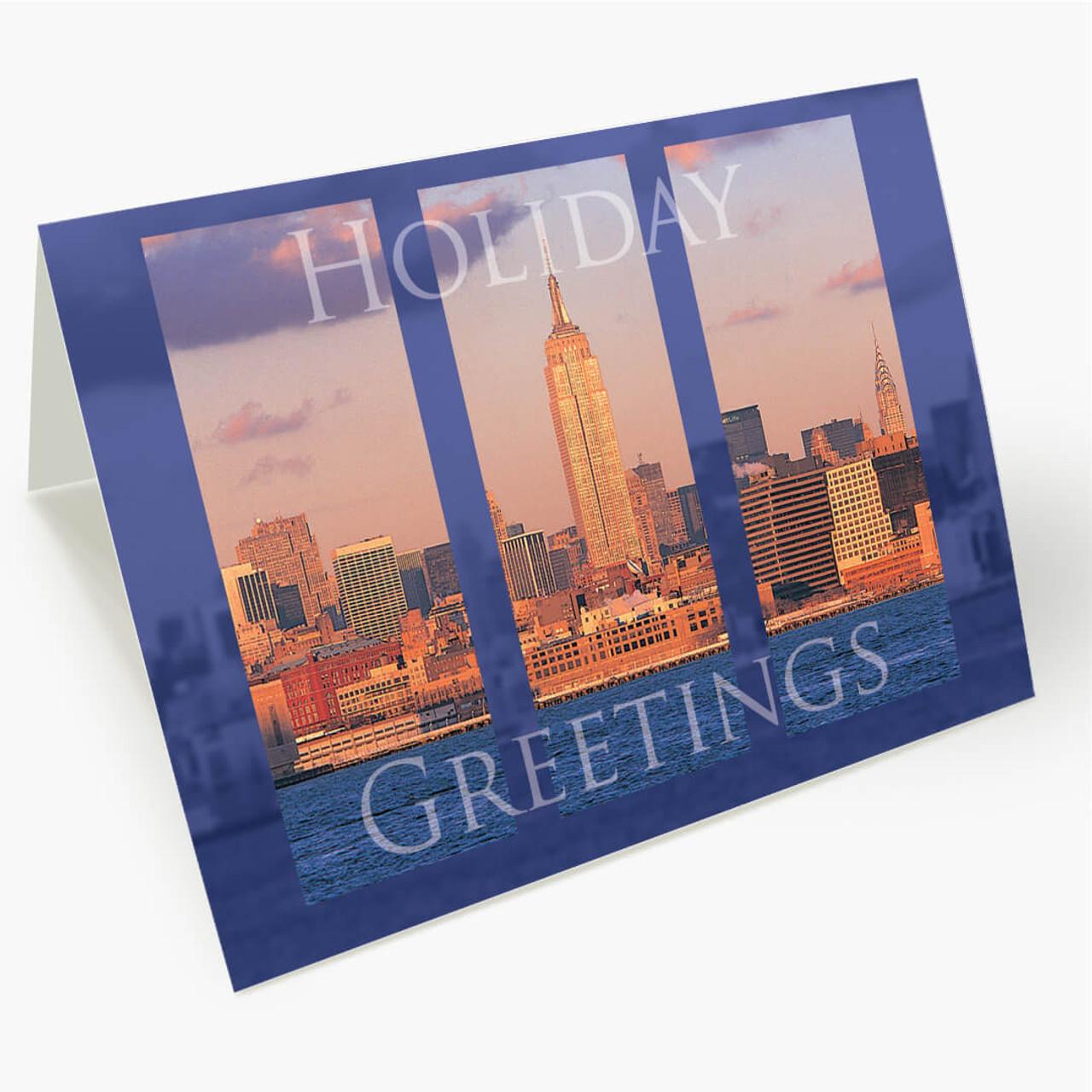 New York Cityscape Christmas Card