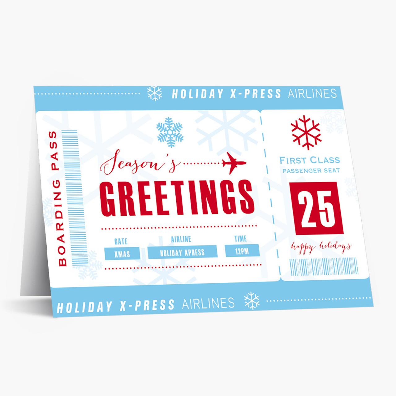 Boarding Pass Christmas