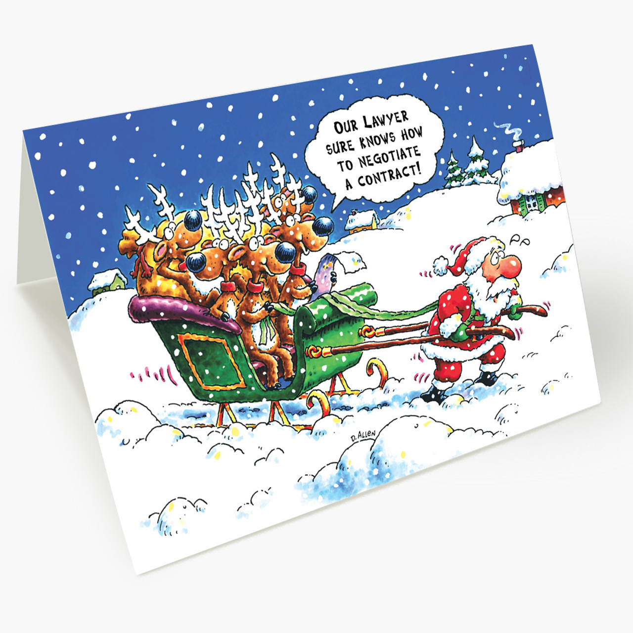 Reindeer Negotiations Christmas Card