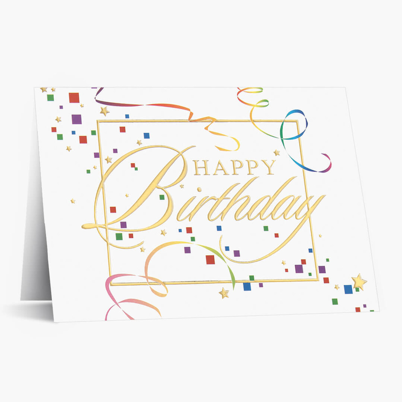 Streamers and Confetti Birthday Card