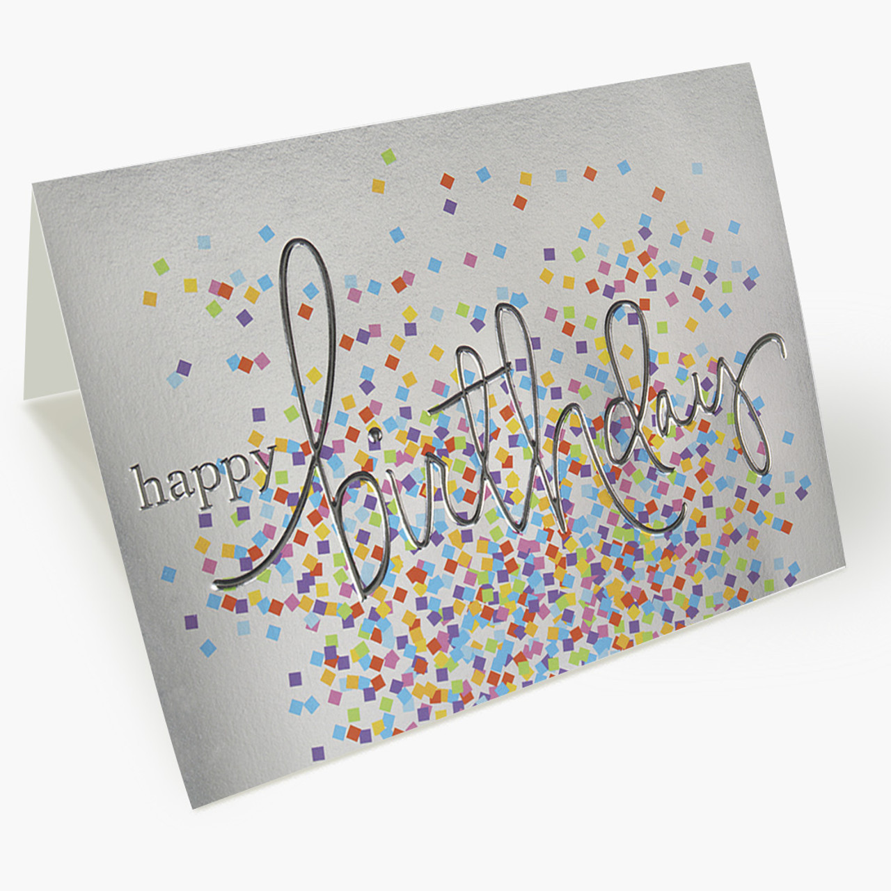 Colorful Confetti Birthday Card