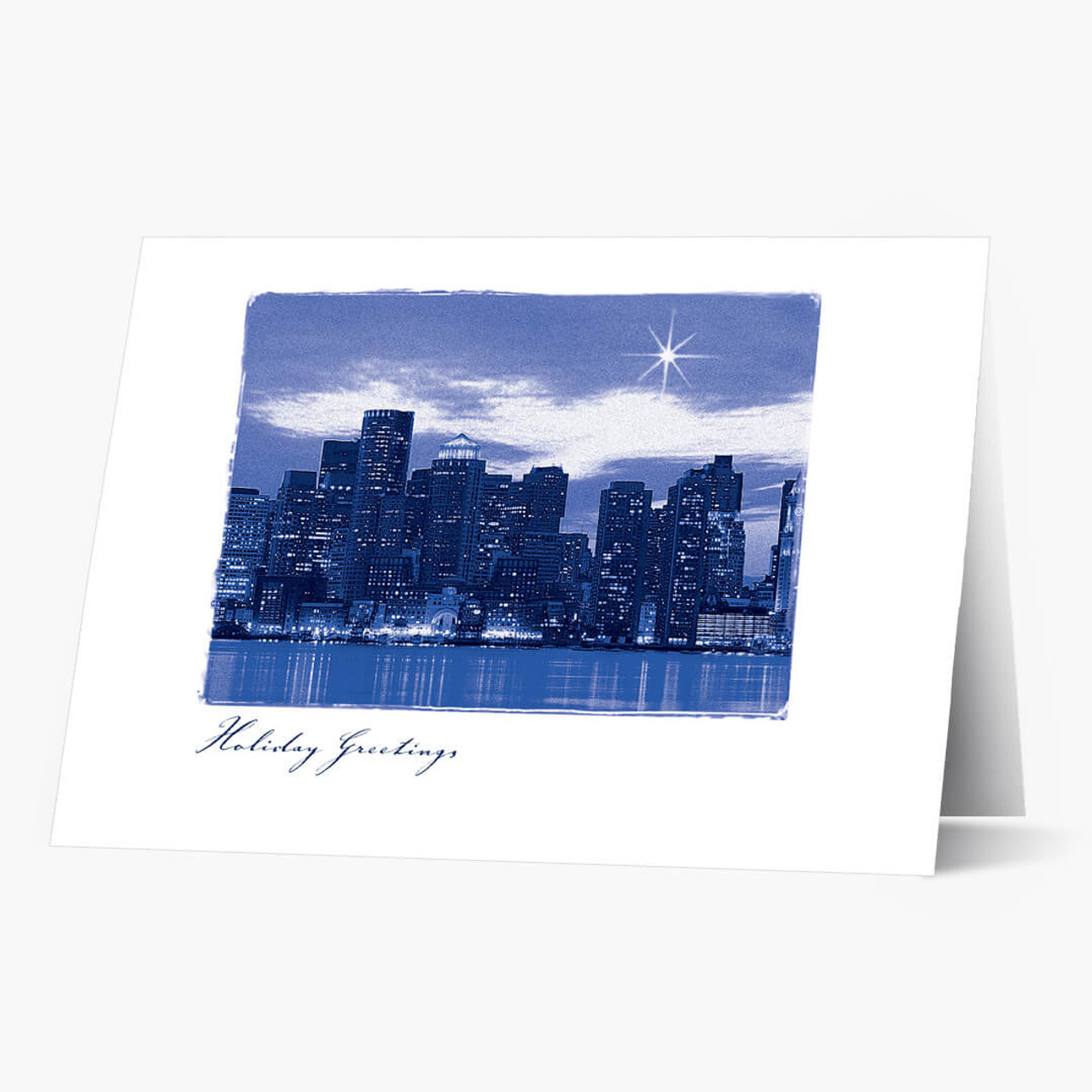 A Star Over Boston Christmas Card