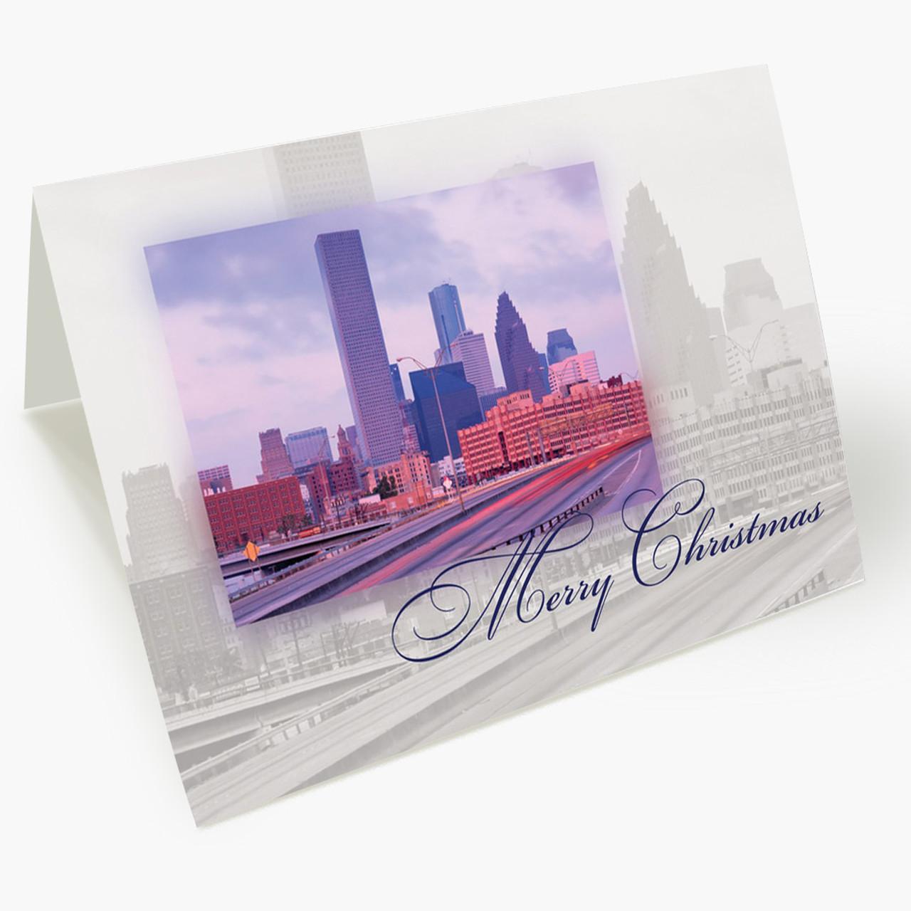 Houston Landmark Christmas Card