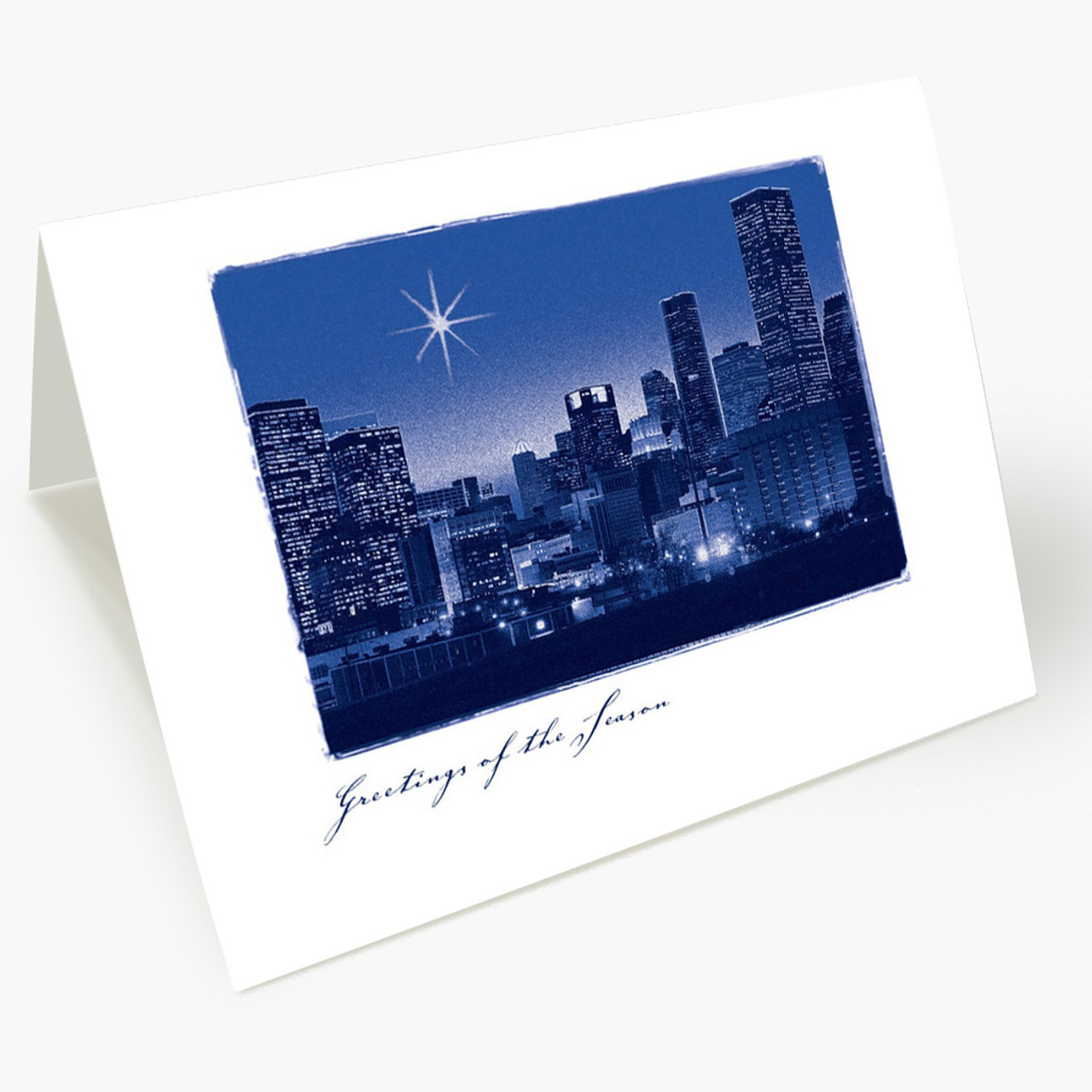 A Star Over Houston Christmas Card