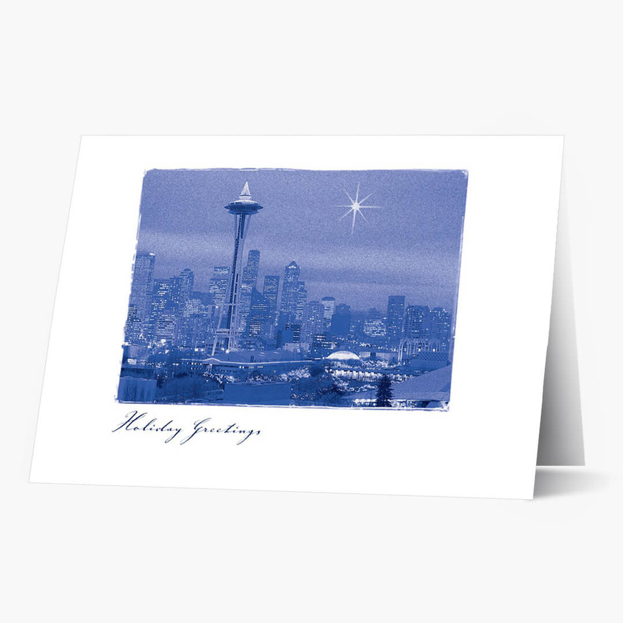 A Star Over Seattle Christmas Card