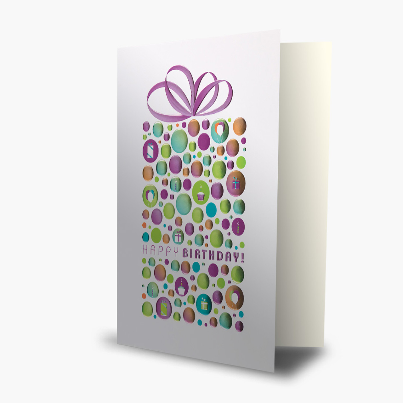 Polka Dot Present Birthday Card