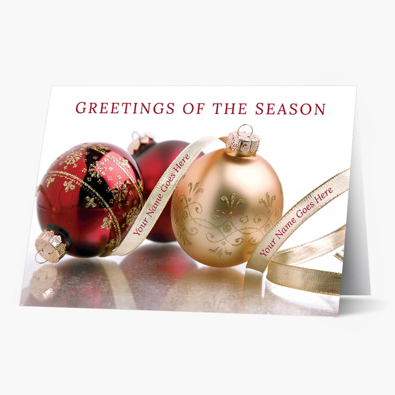 Seasonal Trimmings Christmas Card