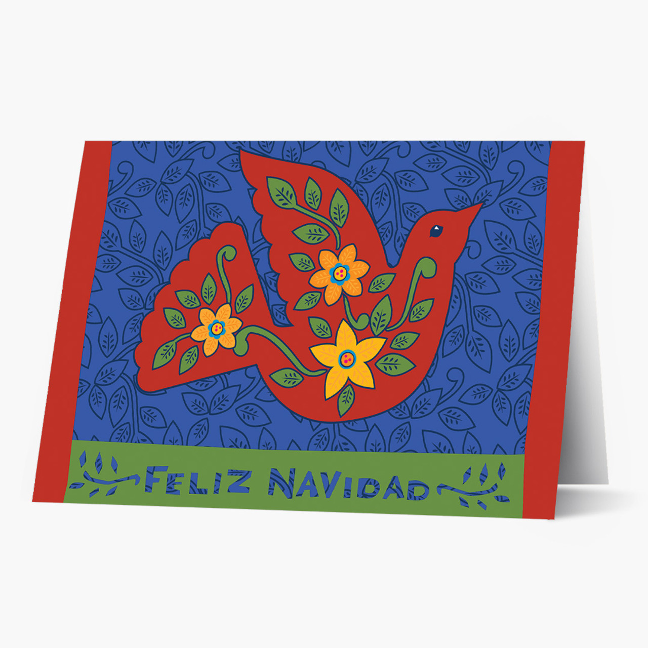 Feliz Navidad Dove Christmas Card