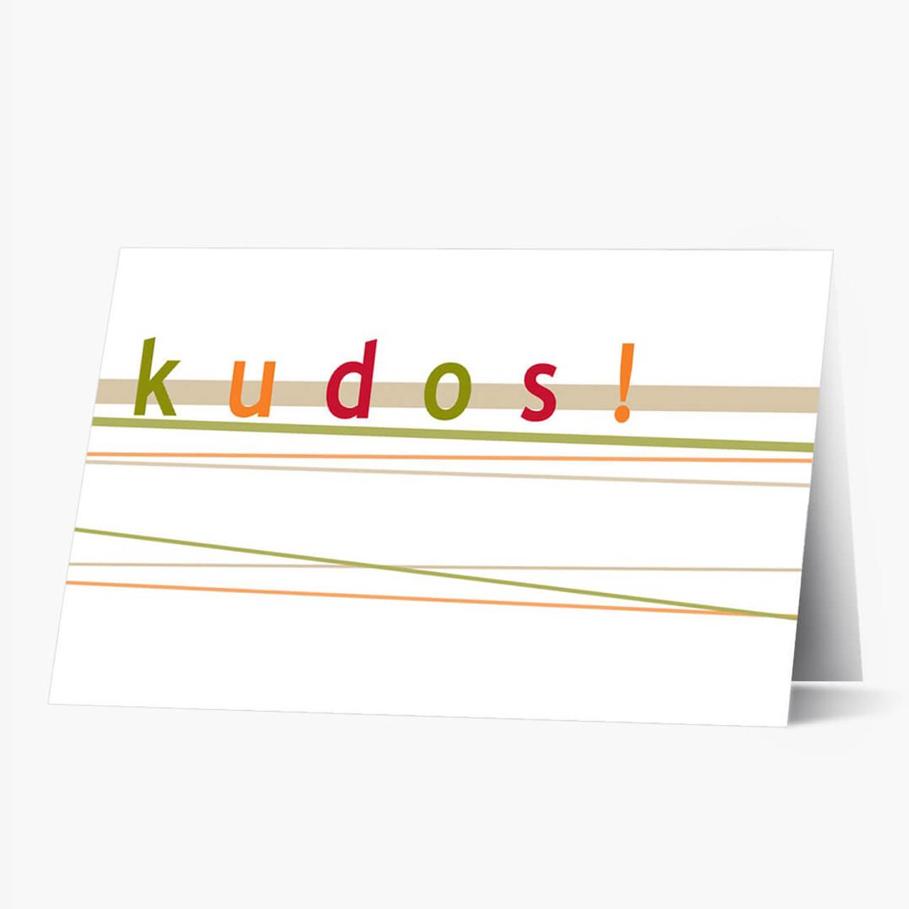 Kudos Congratulations Card