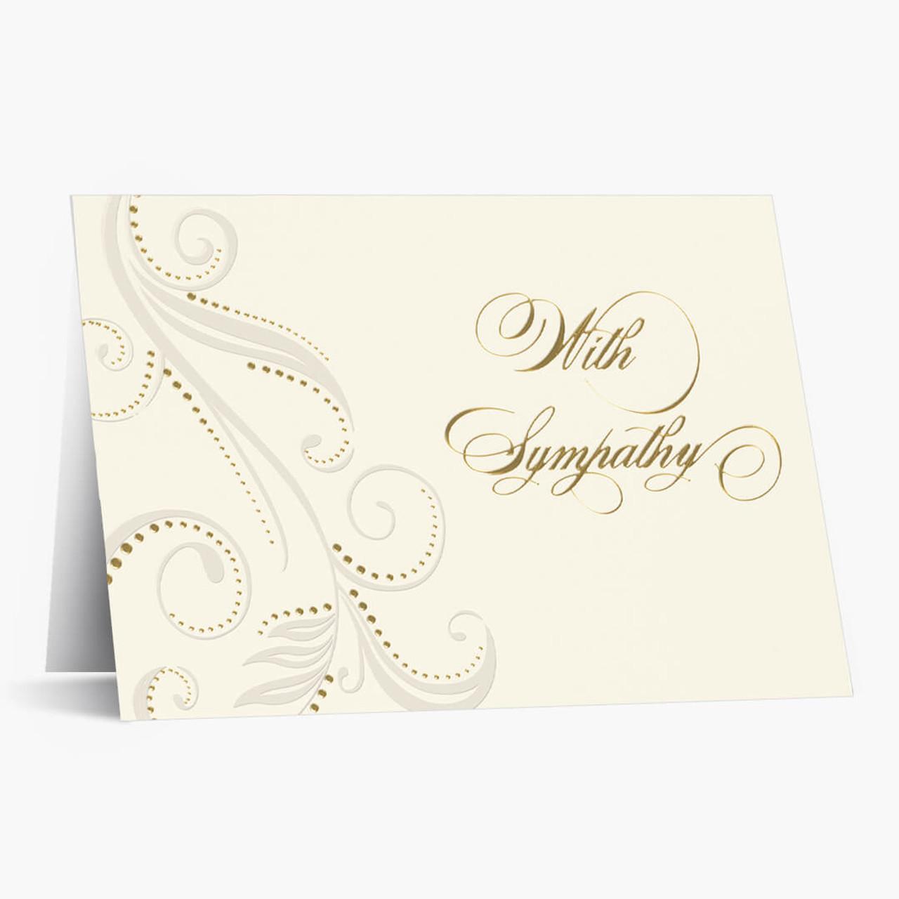 Golden Sympathy Greeting Card