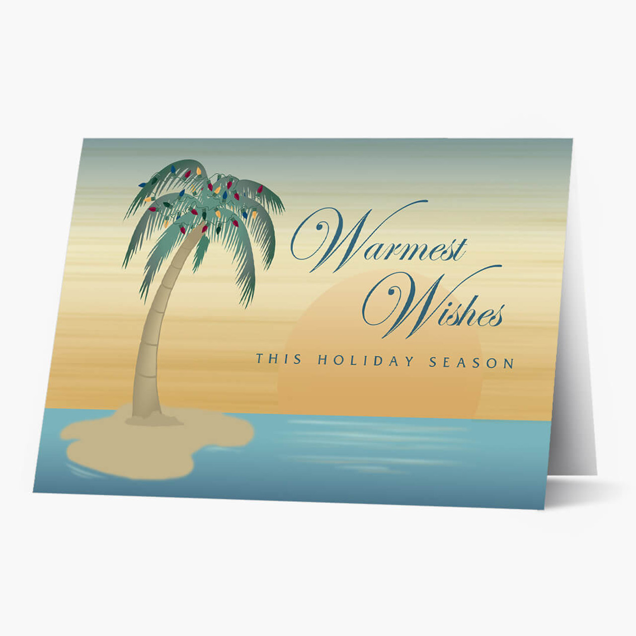 Palm Tree Wishes Christmas Card
