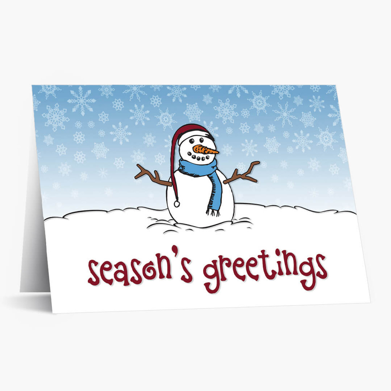Happy Snowman Christmas Card