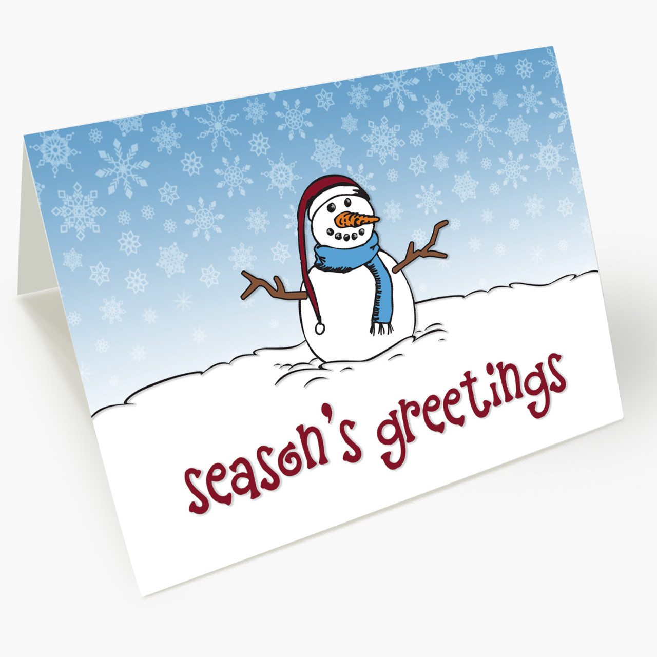 Happy Snowman Christmas Card