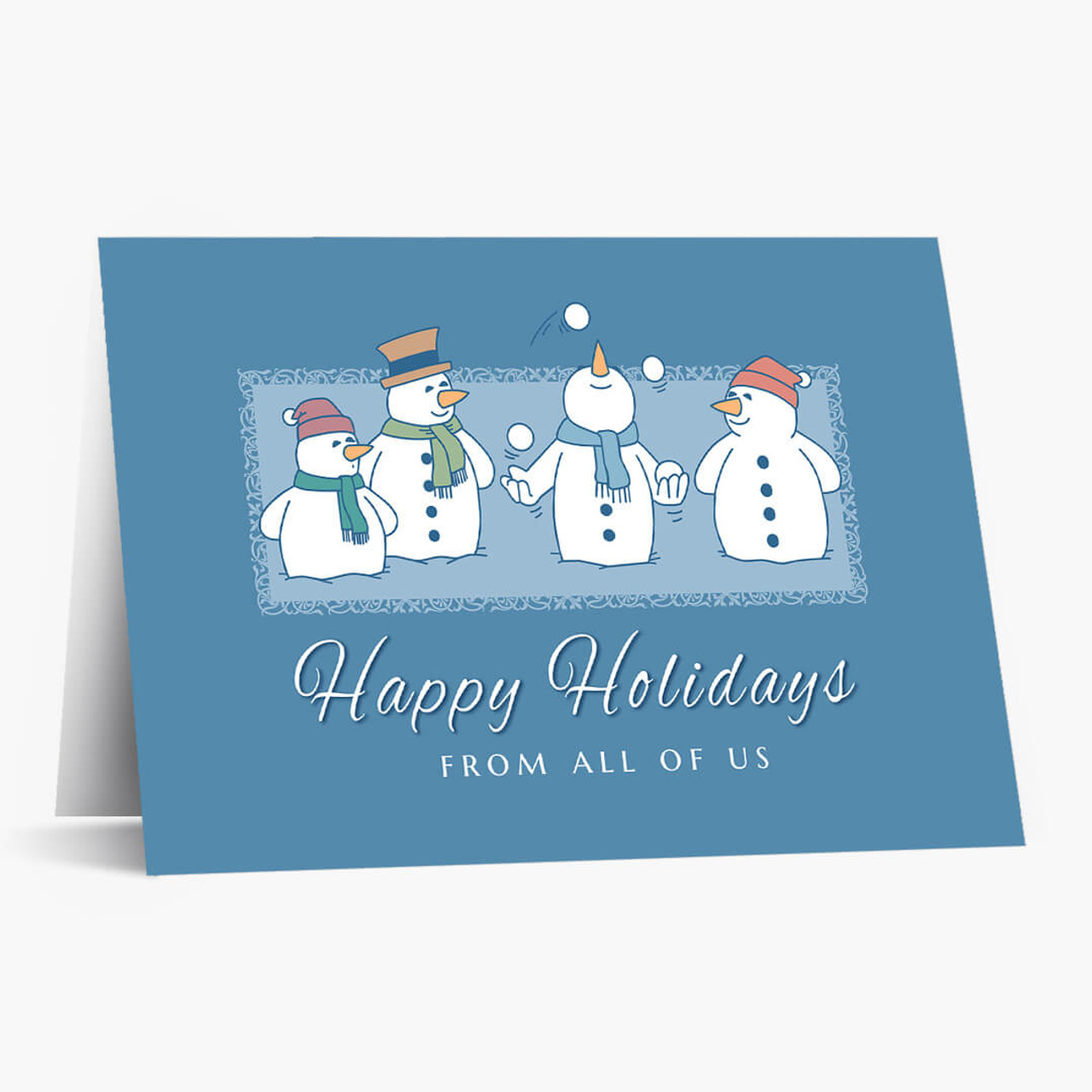Juggling Snowman Christmas Card