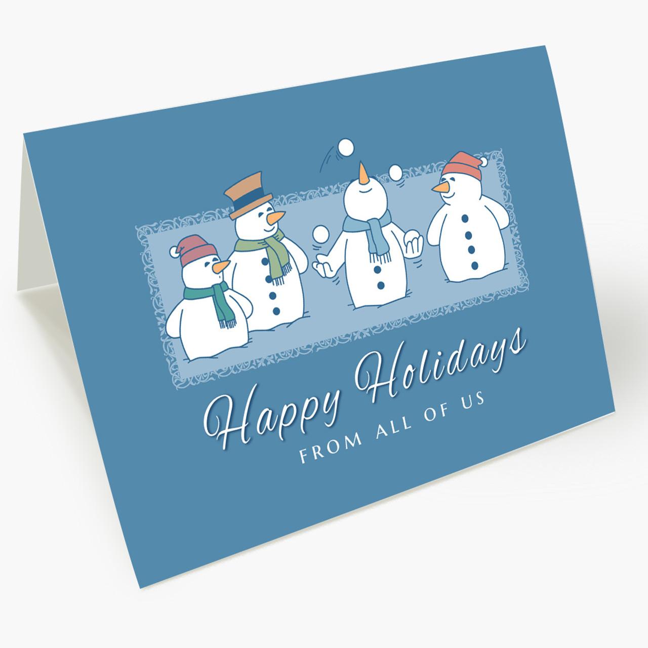 Juggling Snowman Christmas Card