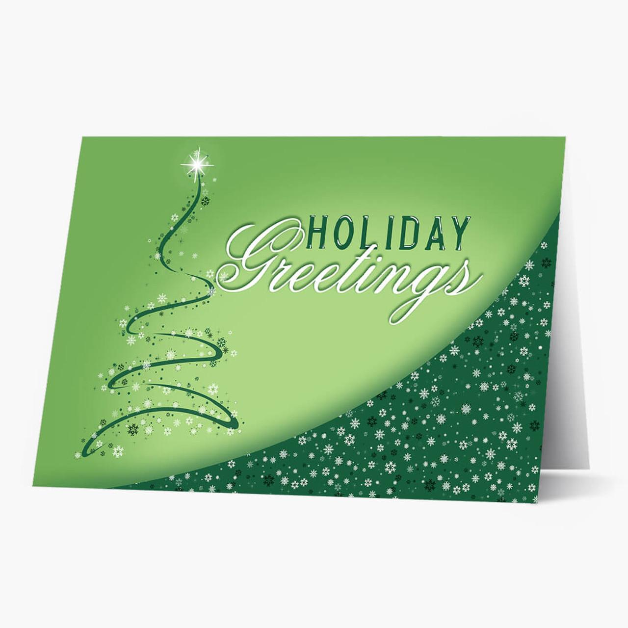 Snowflake Tree Christmas Card