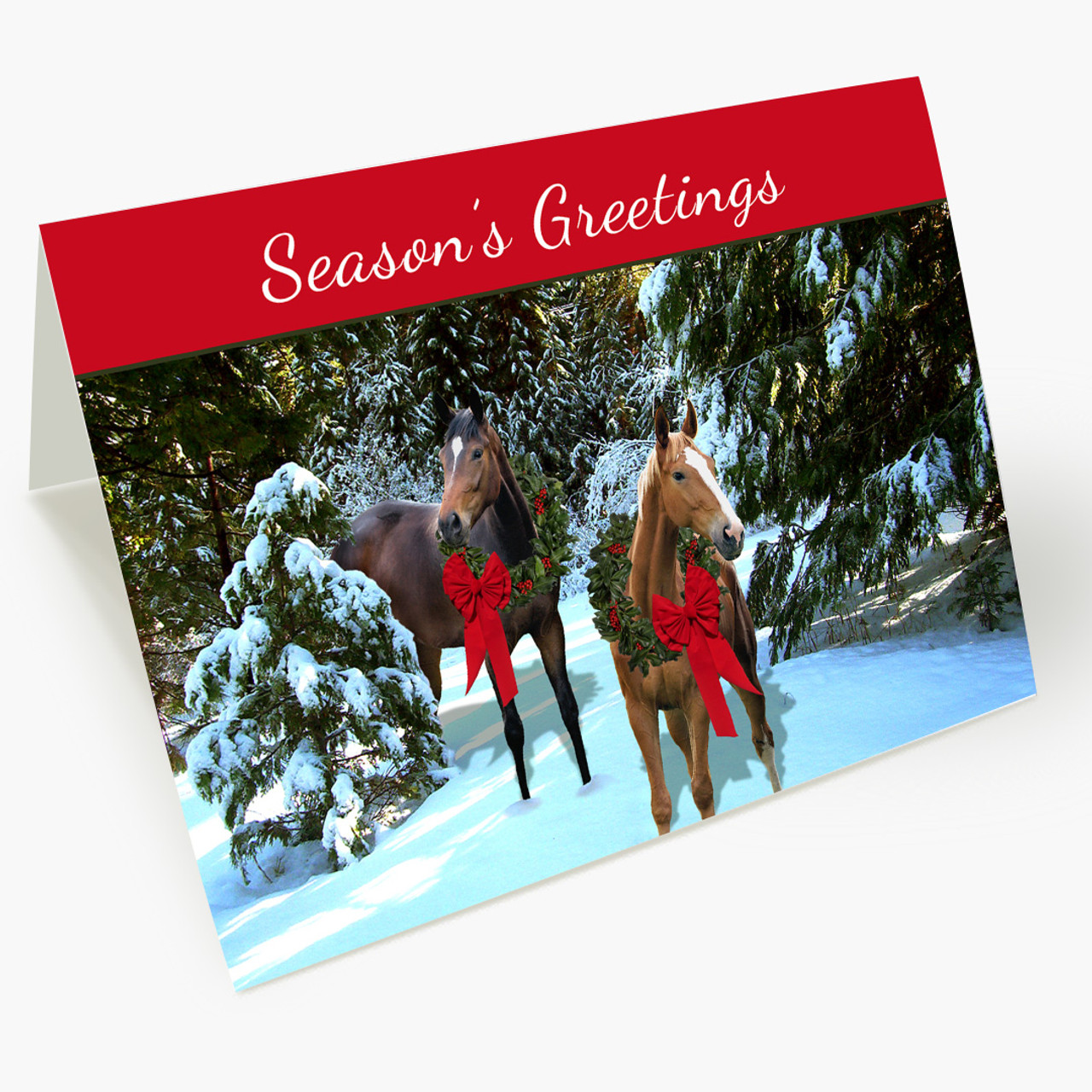 Holiday Horses Christmas Card