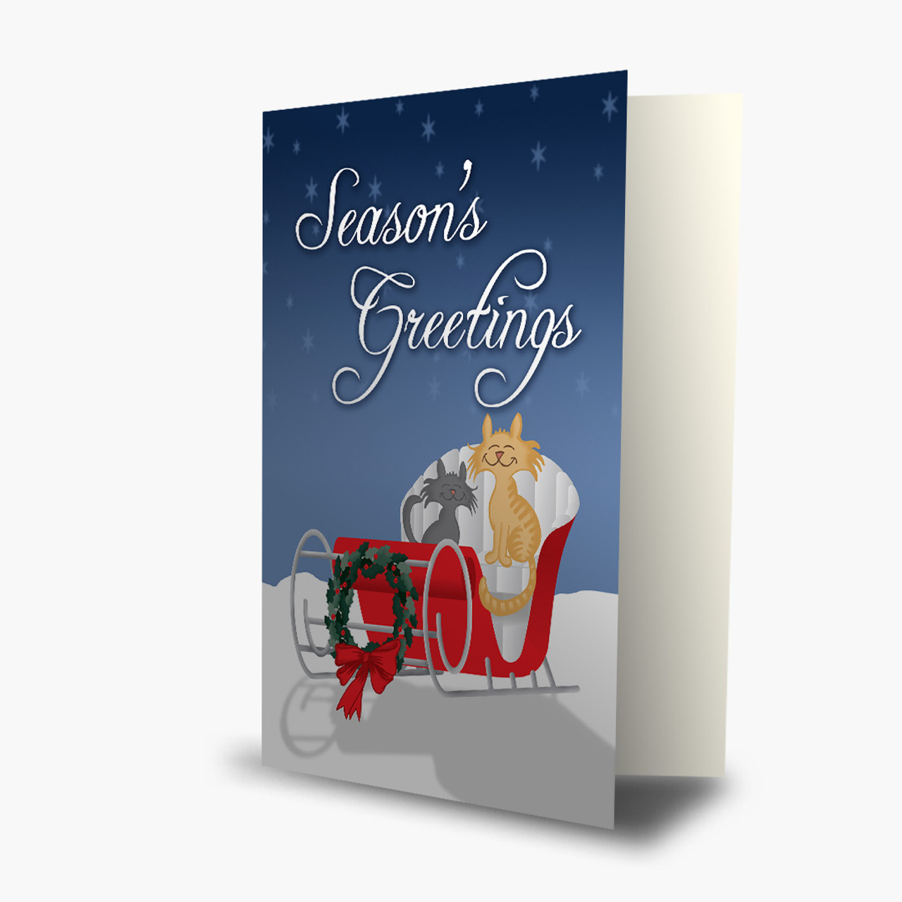 Traveling Cats Christmas Card