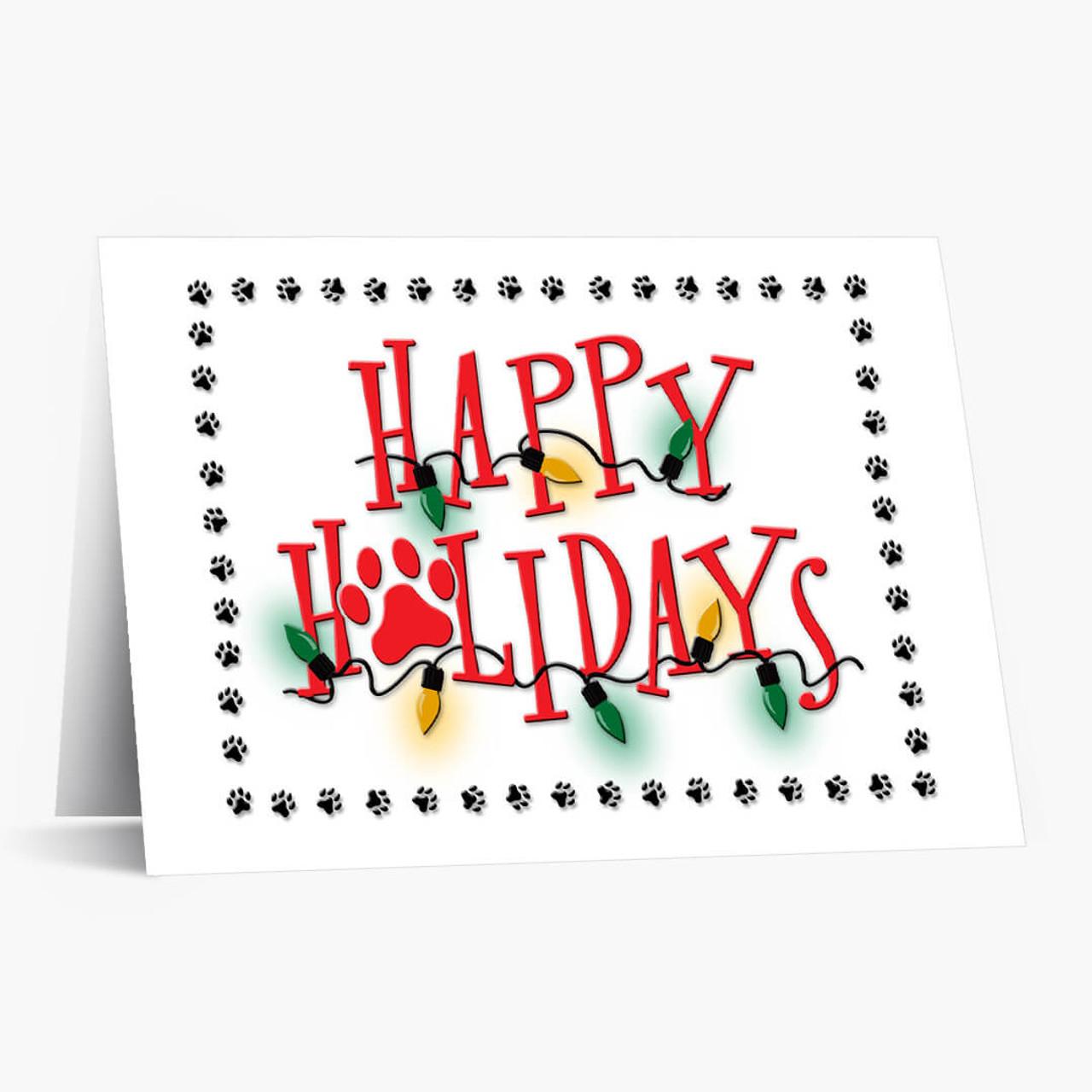 Paw Prints Christmas Card