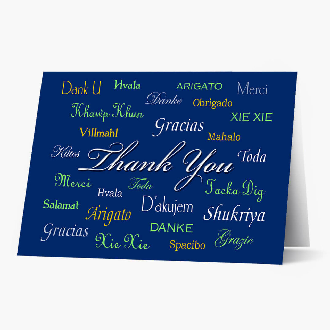 International Thank You Christmas Card