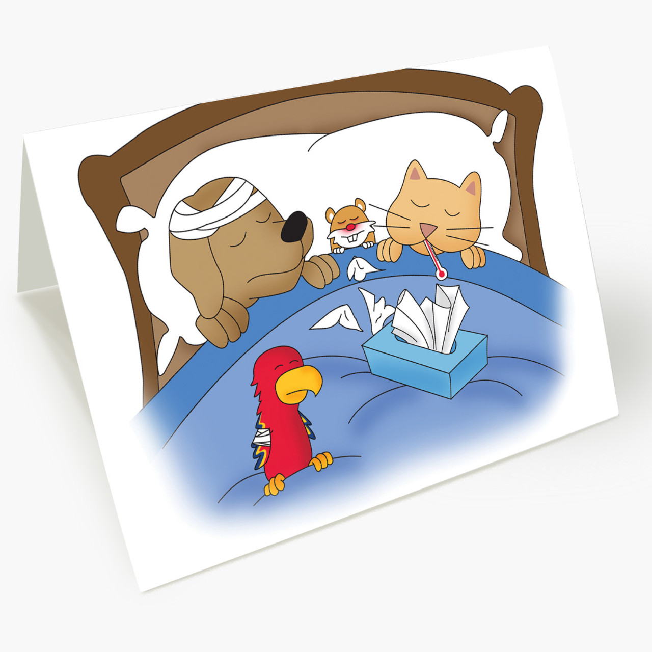 Misery Loves Company Pet Get Well Card