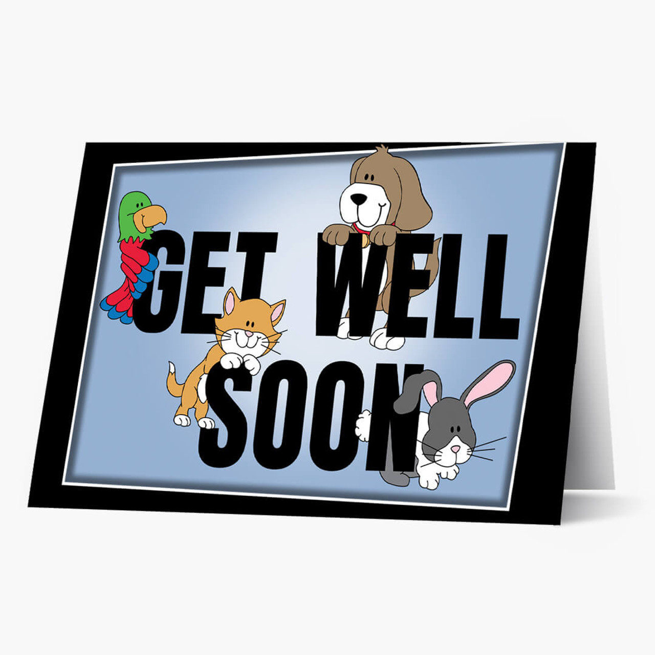 Friendly Pet Get Well Card