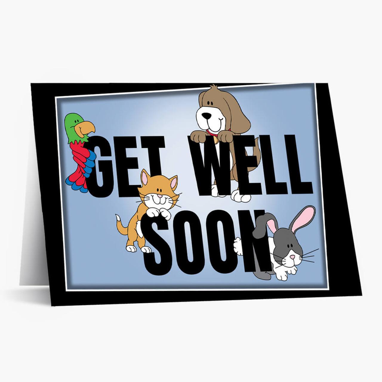 Friendly Pet Get Well Card