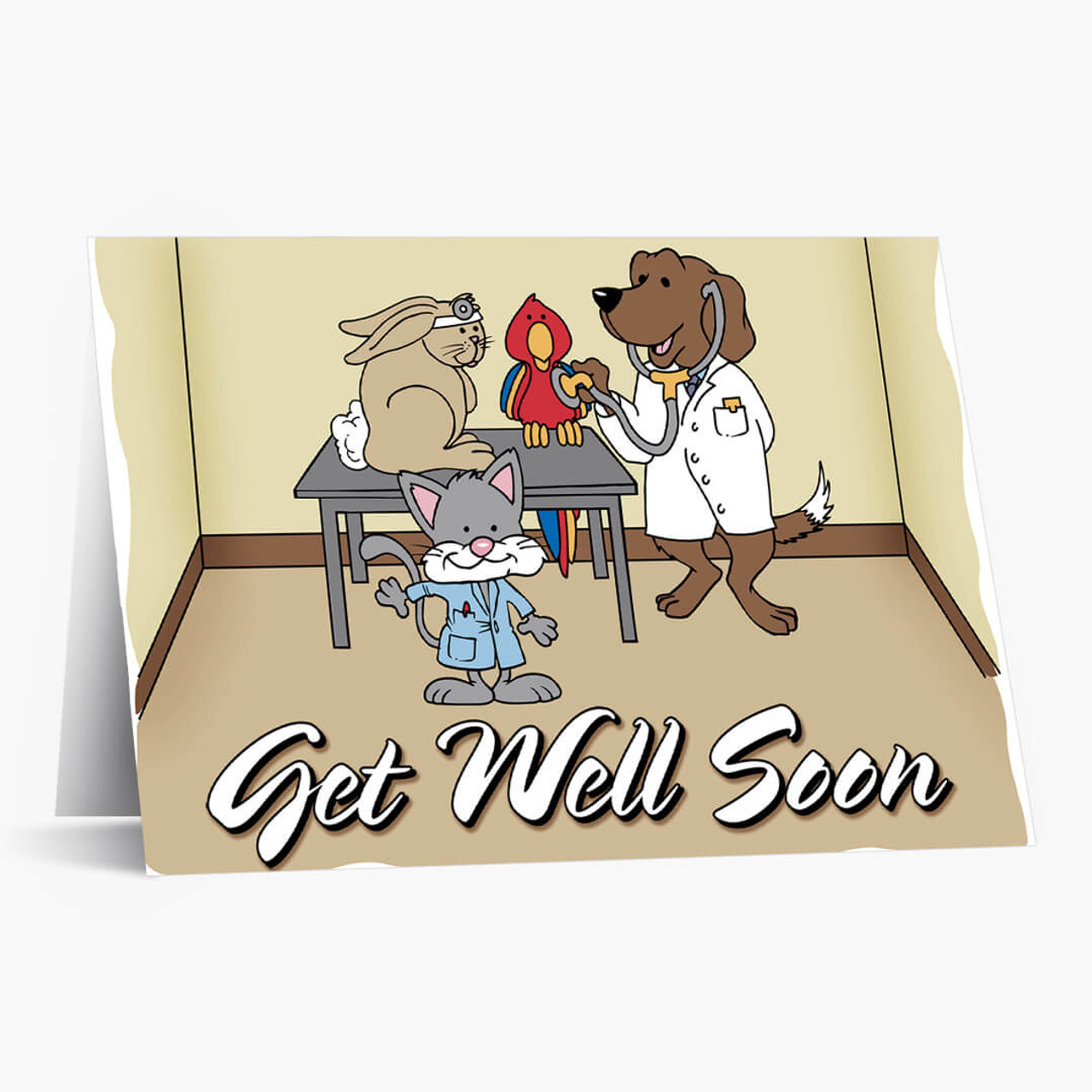 The Doctor Is In Pet Get Well Card