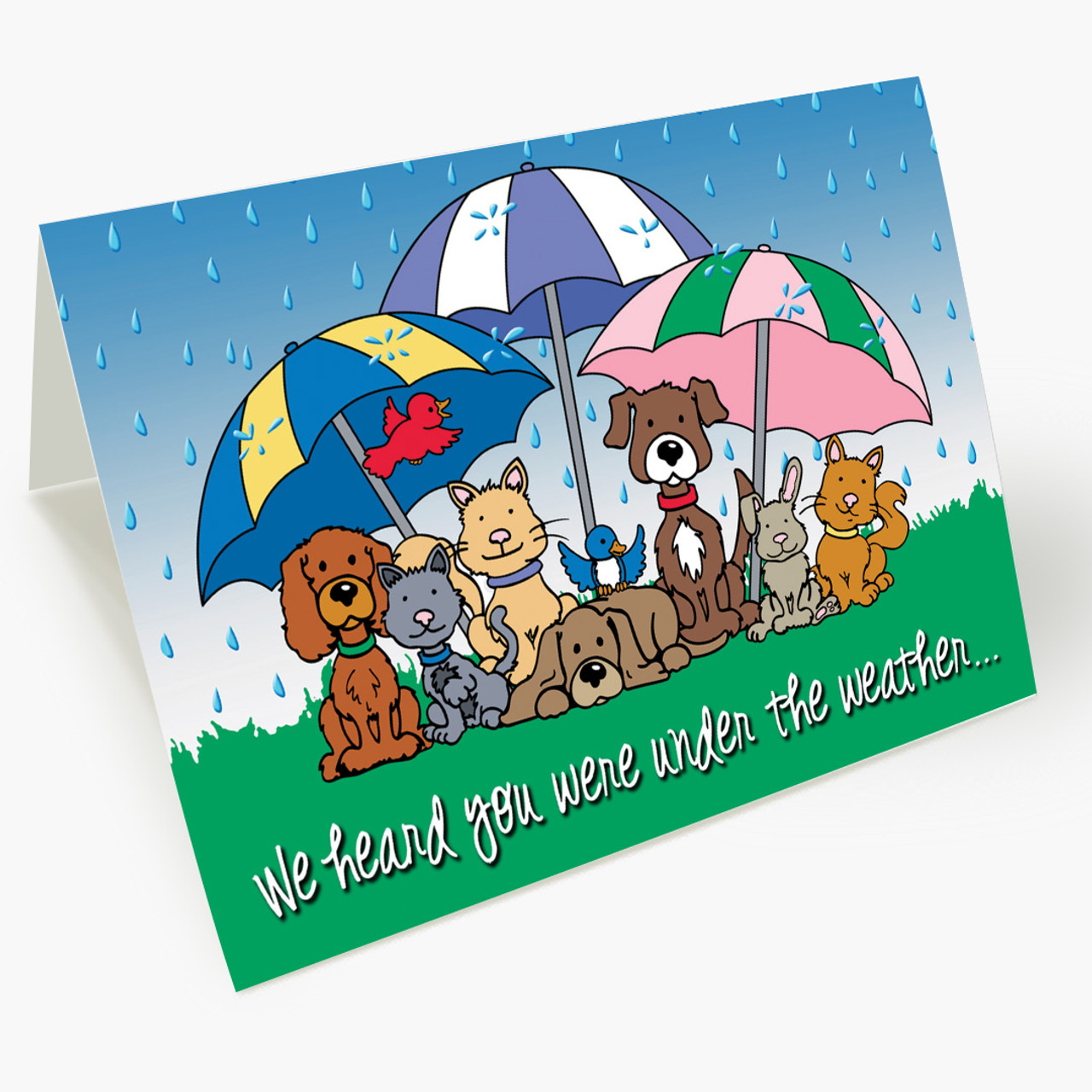 Under The Weather Pet Get Well Card