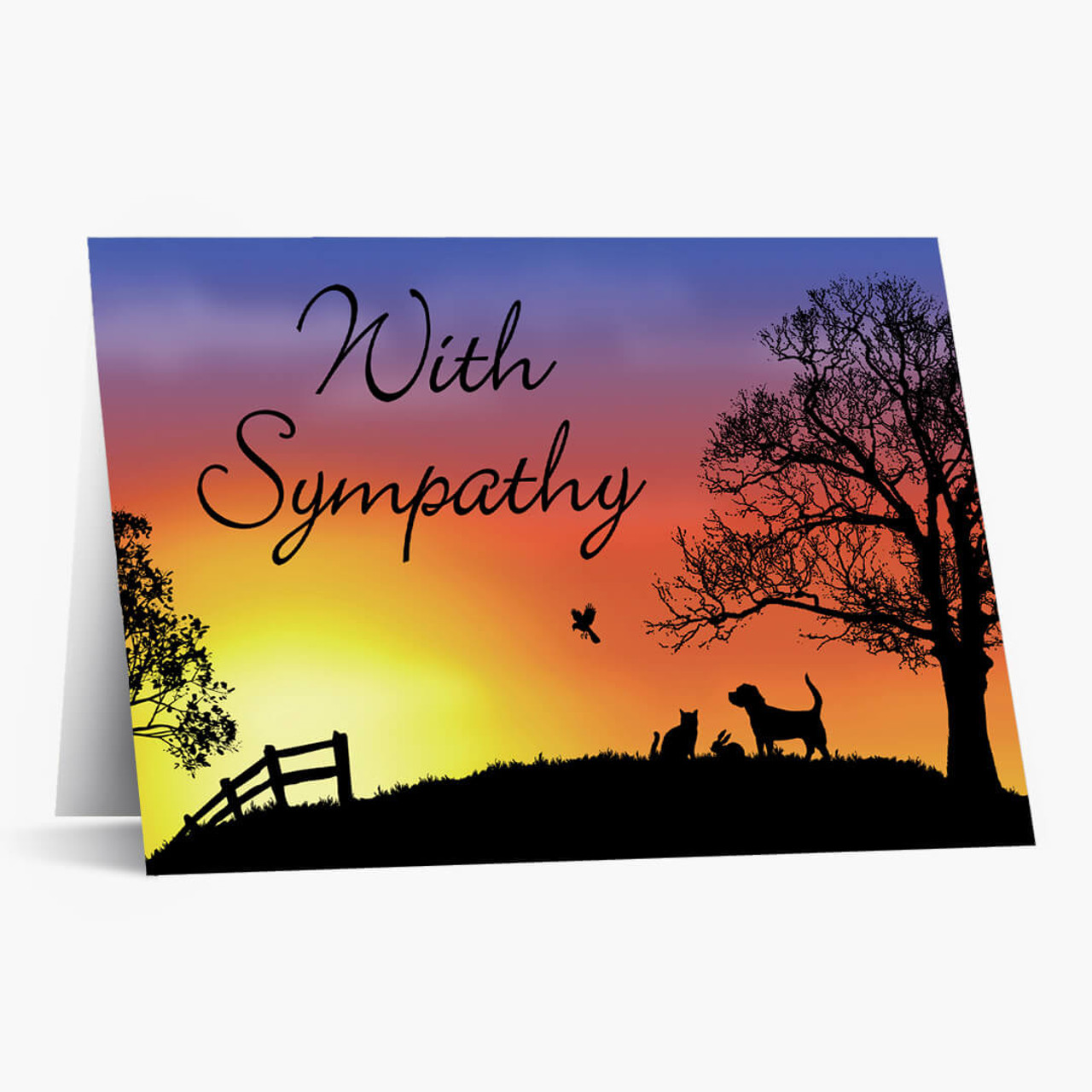 Twilight Pet Sympathy Card