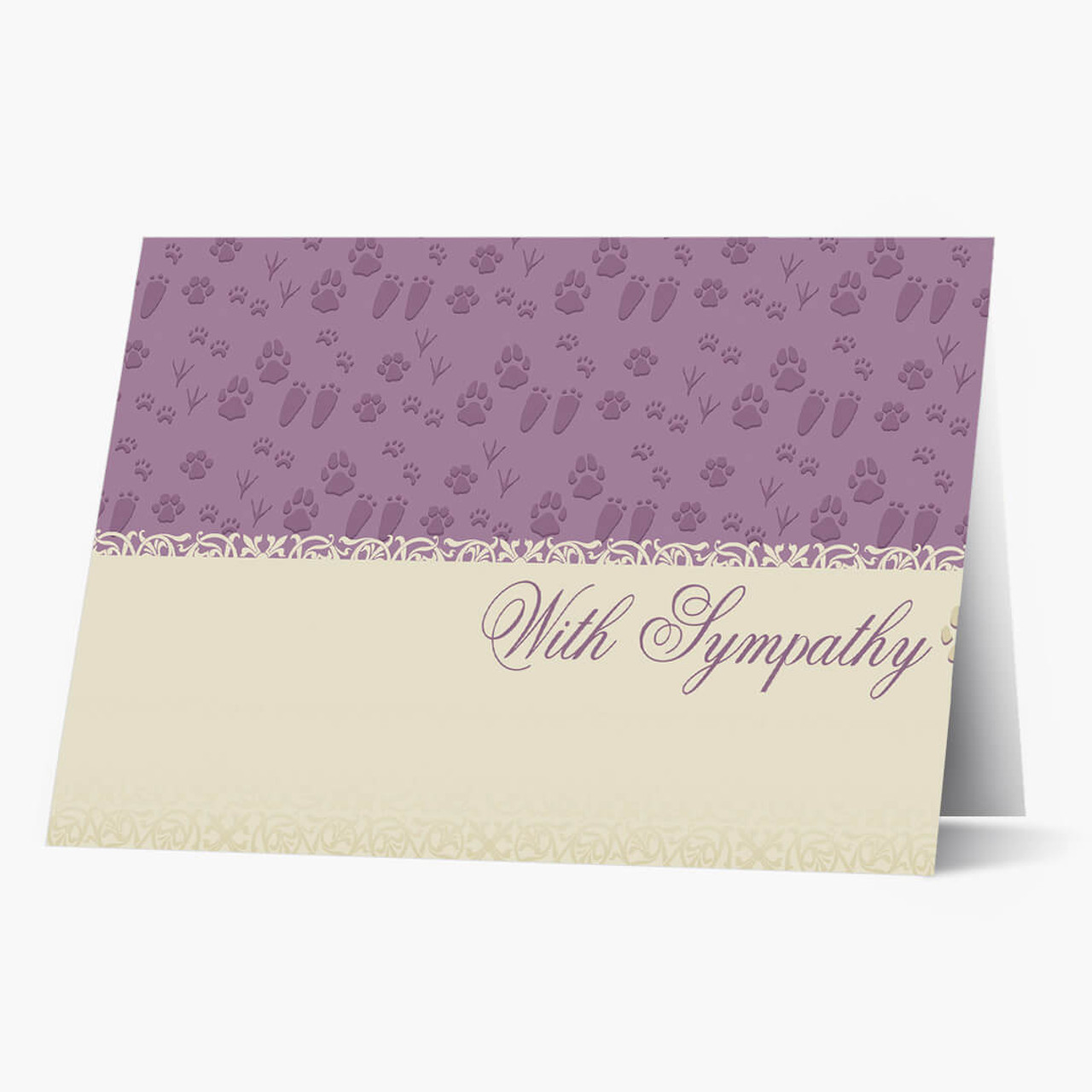 Our Friends Footprints Pet Sympathy Card