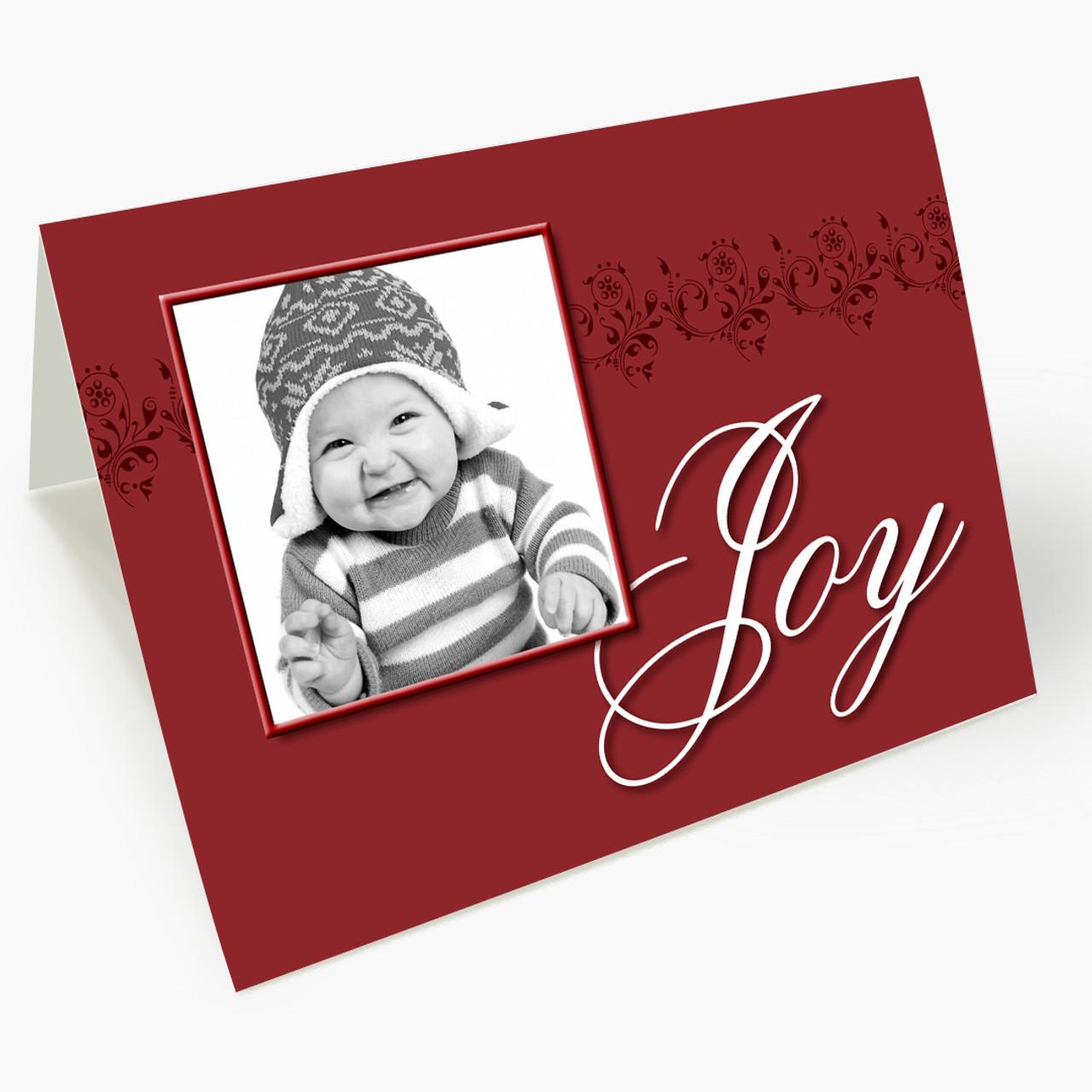Joy Photo - Matte Finish Christmas Card