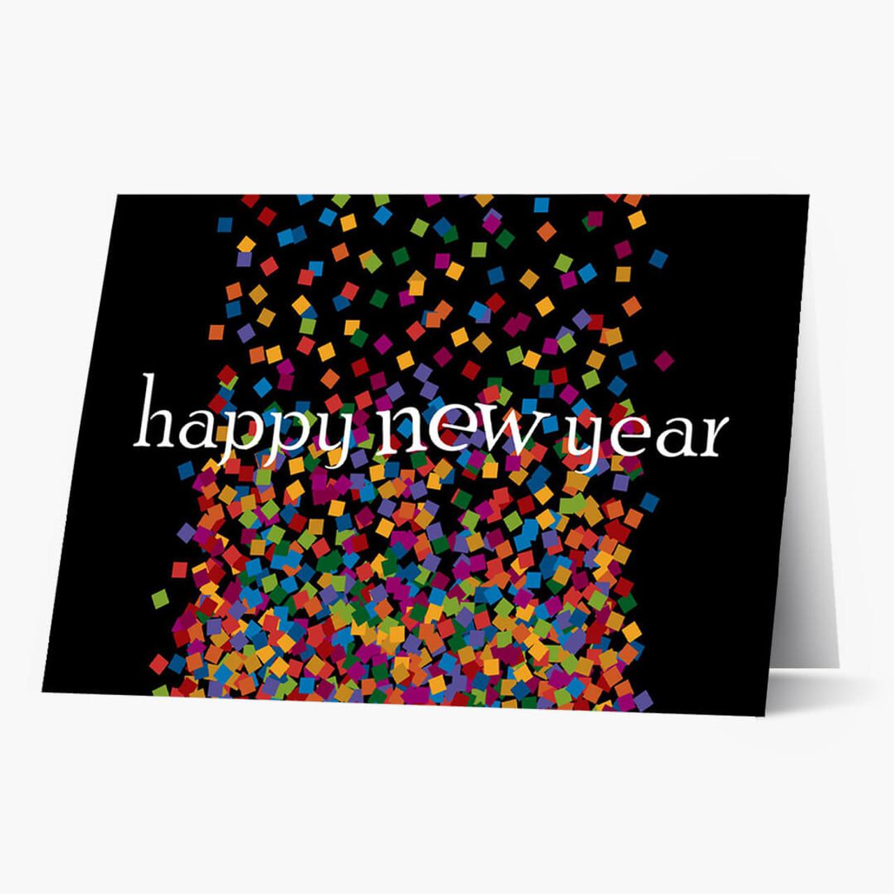 Confetti New Year Card