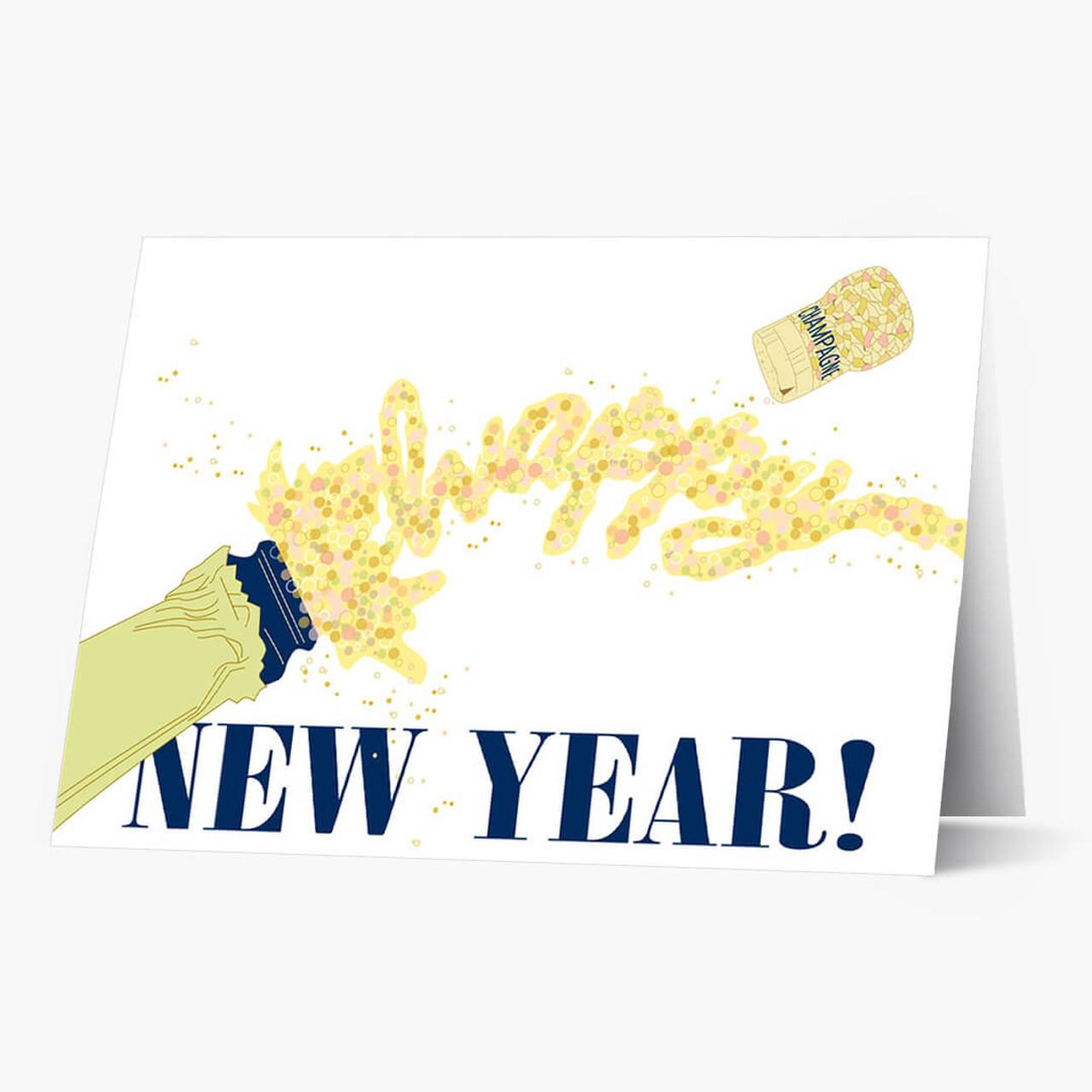 Champagne Celebration Christmas Card