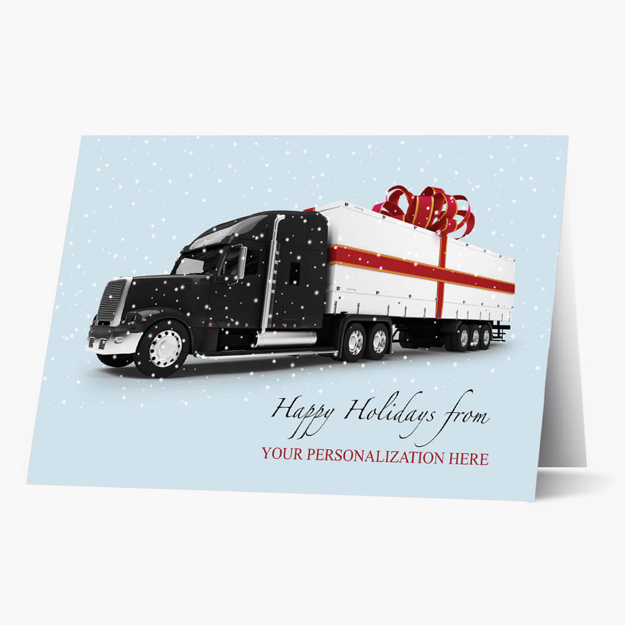 Semi Package Christmas Card