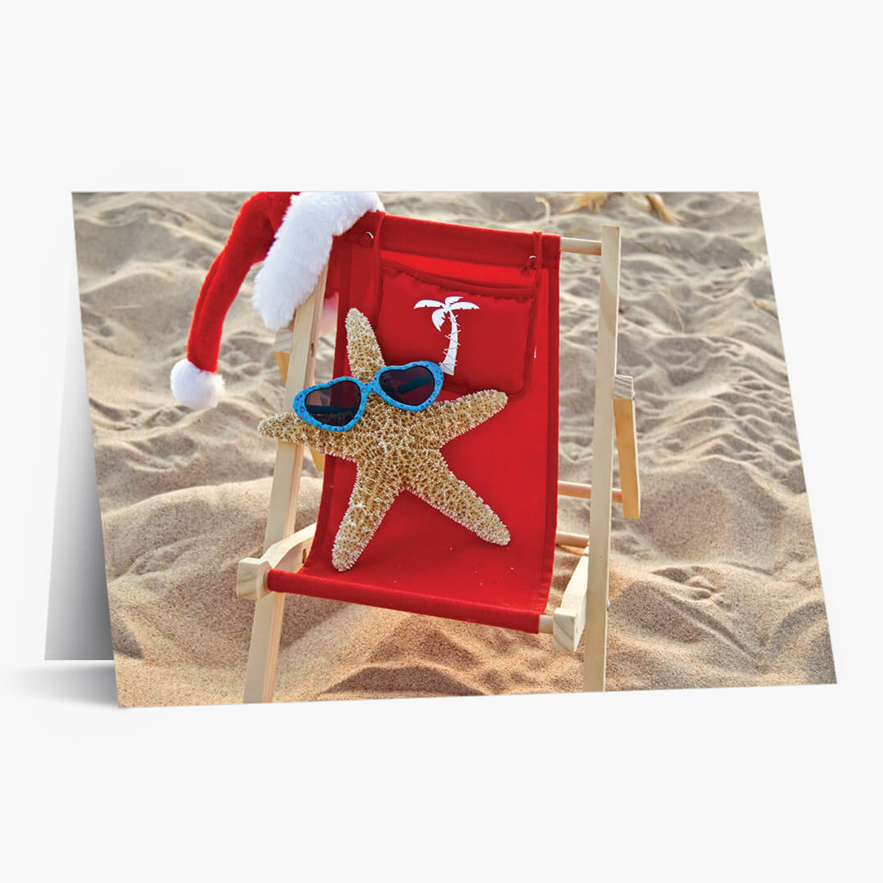 Sun Worshiping Starfish Christmas Card